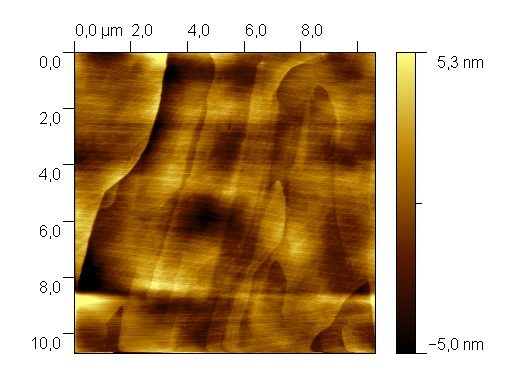 HOPG. AFM image.  Contact mode. Topography.