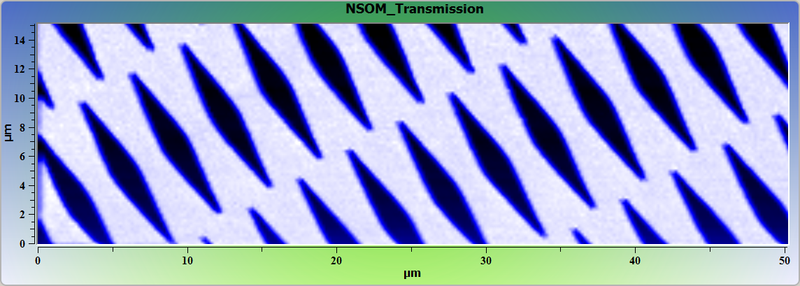 Vanadium test grating. NSOM image.