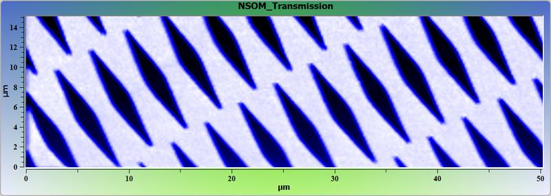 Тестовая ванадиевая решетка. Ближнепольное оптическое изображение.