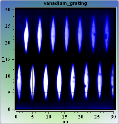 Vanadium test grating NSpec (confocal image)